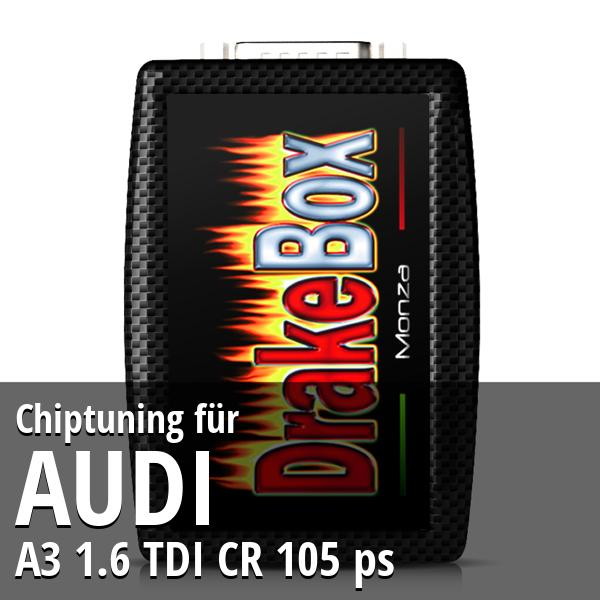 Chiptuning Audi A3 1.6 TDI CR 105 ps