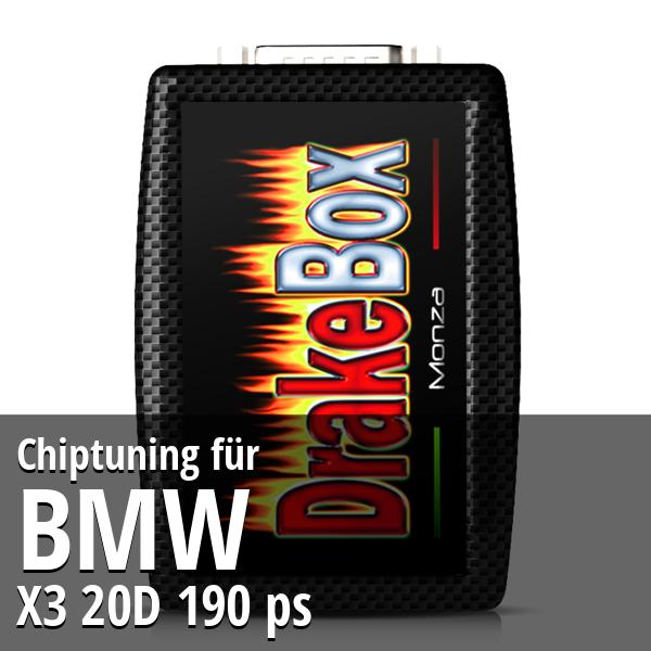 Chiptuning Bmw X3 20D 190 ps