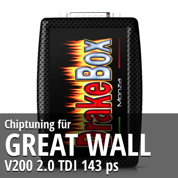 Chiptuning Great Wall V200 2.0 TDI 143 ps
