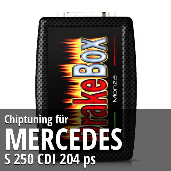 Chiptuning Mercedes S 250 CDI 204 ps