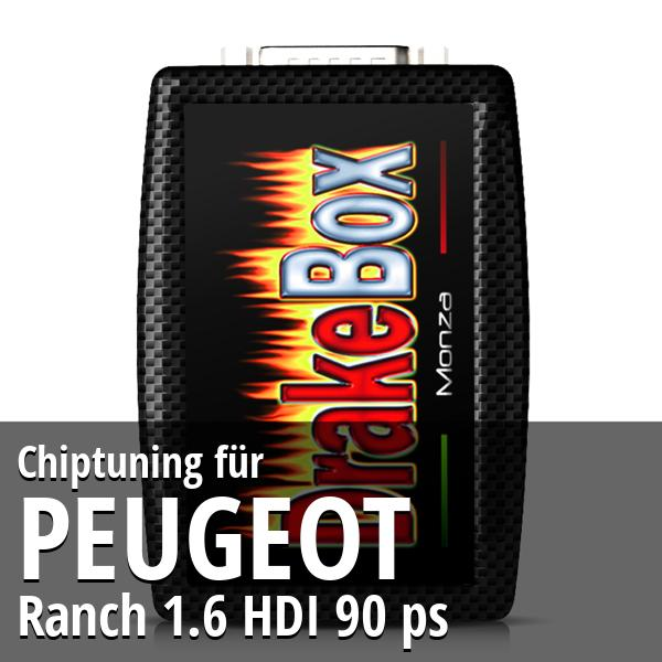 Chiptuning Peugeot Ranch 1.6 HDI 90 ps