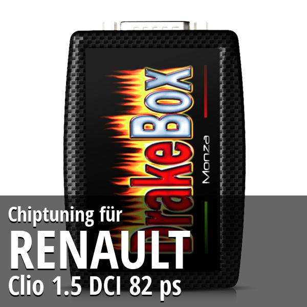 Chiptuning Renault Clio 1.5 DCI 82 ps
