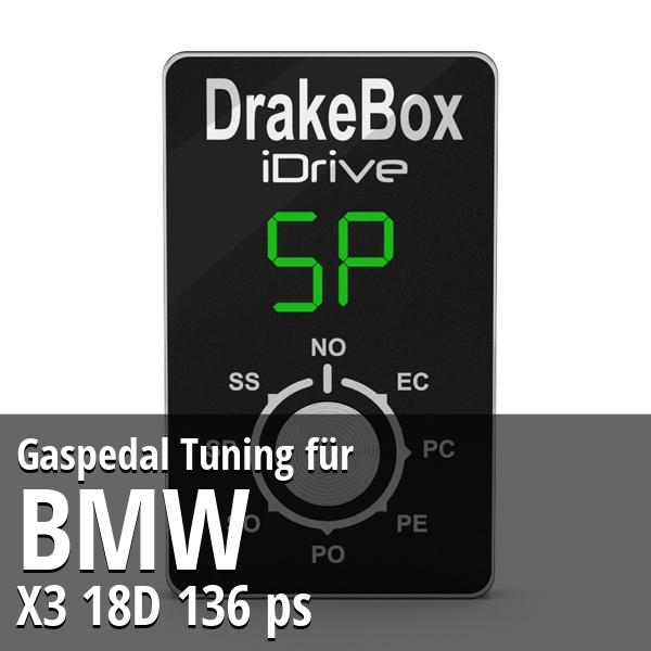 Gaspedal Tuning Bmw X3 18D 136 ps