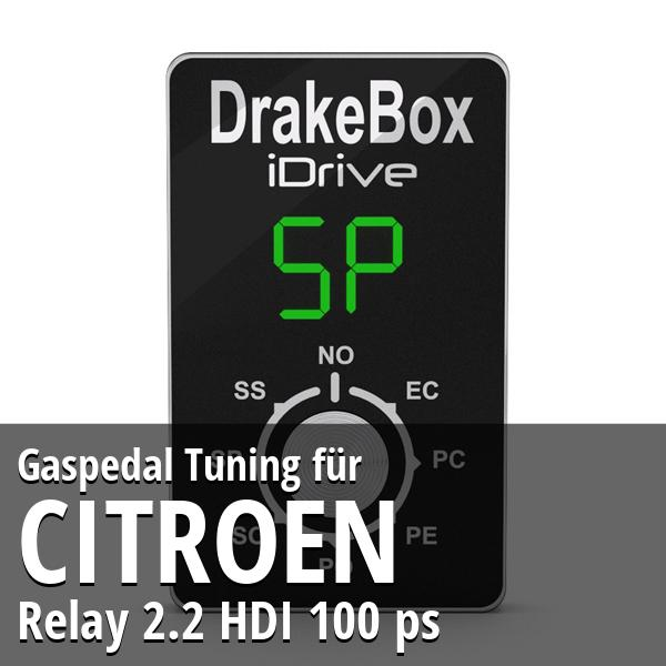 Gaspedal Tuning Citroen Relay 2.2 HDI 100 ps