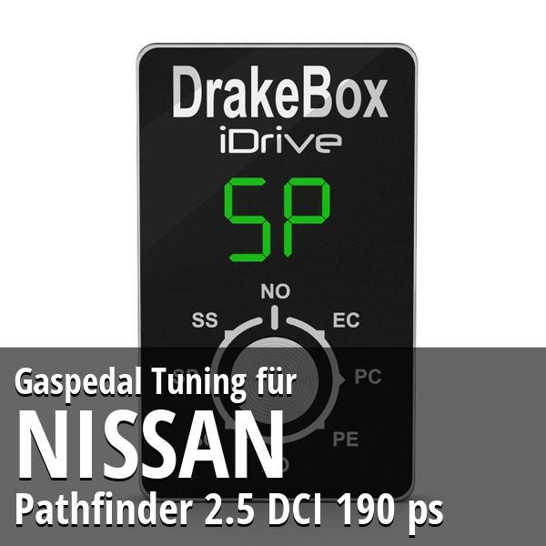 Gaspedal Tuning Nissan Pathfinder 2.5 DCI 190 ps