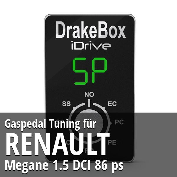 Gaspedal Tuning Renault Megane 1.5 DCI 86 ps