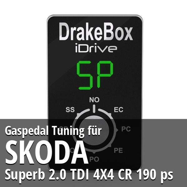 Gaspedal Tuning Skoda Superb 2.0 TDI 4X4 CR 190 ps