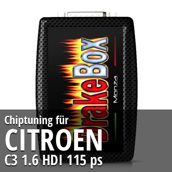 Chiptuning Citroen C3 1.6 HDI 115 ps