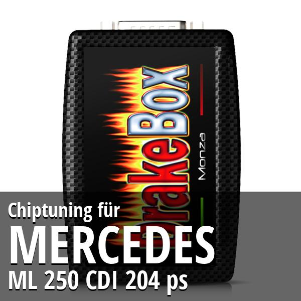 Chiptuning Mercedes ML 250 CDI 204 ps