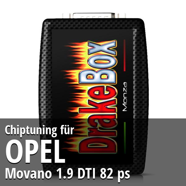 Chiptuning Opel Movano 1.9 DTI 82 ps